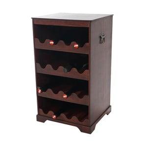 Hnedý stojan na 16 fliaš vína Mendler Shabby Colonial 66 cm