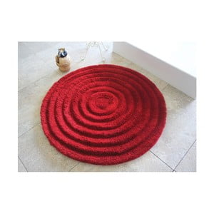 Červená kúpeľňová predložka Alessia Ecru, Ø90cm