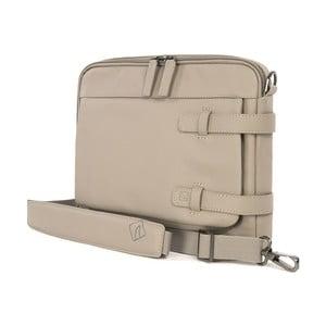 Béžová taška s ramenným popruhom z talianskej kože Tucano Tema