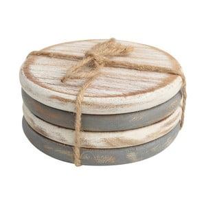 Sada 4 podložiek pod pohár z akáciového dreva T&G Woodware