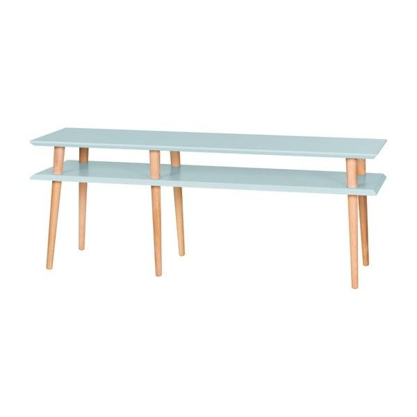 Svetlotyrkysový konferenčný stolík Ragaba Mugo,dĺžka139 cm