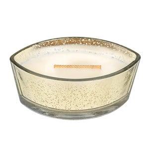 Sviečka s vôňou škorice, ovsa a mandľového mlieka Woodwick Ovsené sušienky, doba horenia 80 hodín