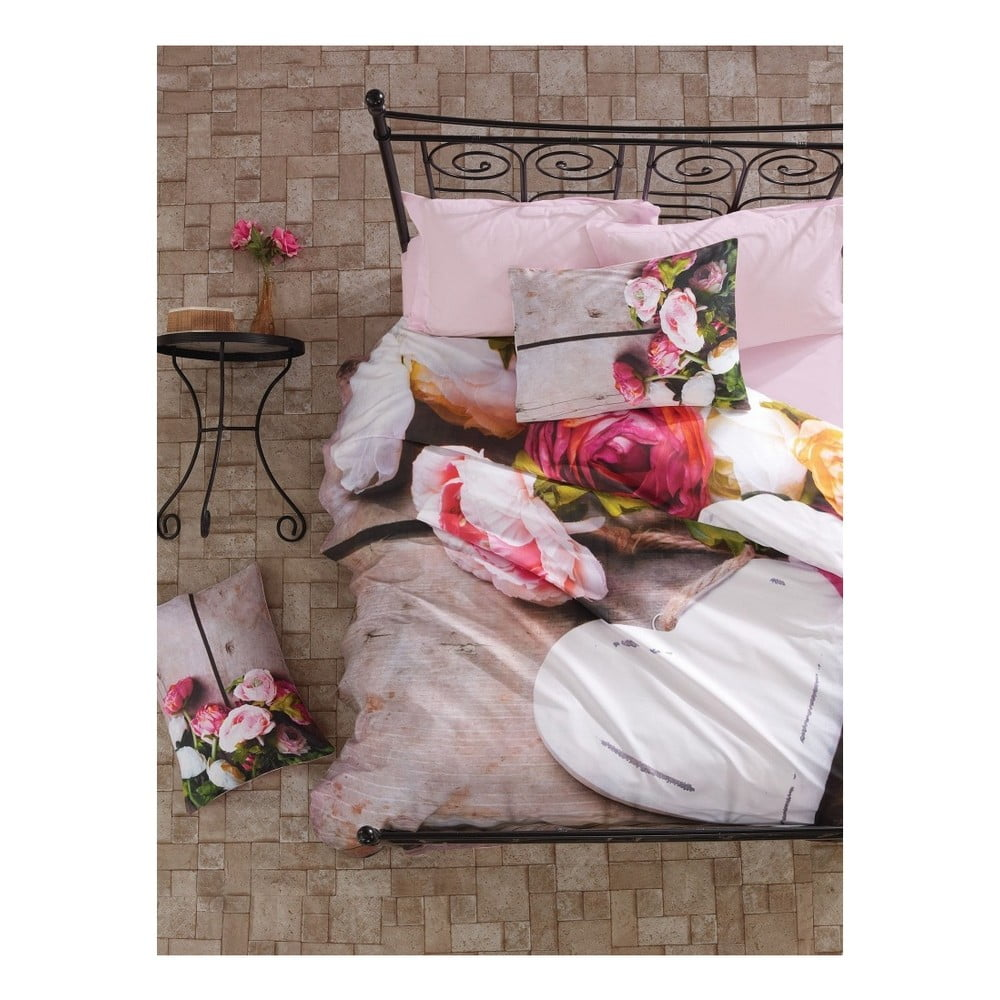 Bavlnené obliečky na dvojlôžko s plachtou Florenta, 200 × 220 cm