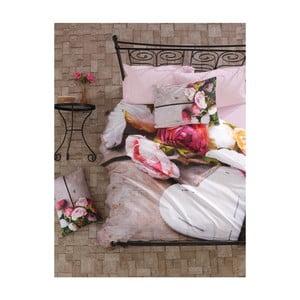 Bavlnené obliečky na dvojlôžko s plachtou Florenta, 200 x 220 cm