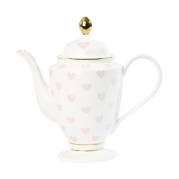 Konvica na čaj so srdiečkami