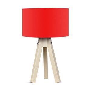Stolová lampa s červeným tienidlom Kate Louise Naturel