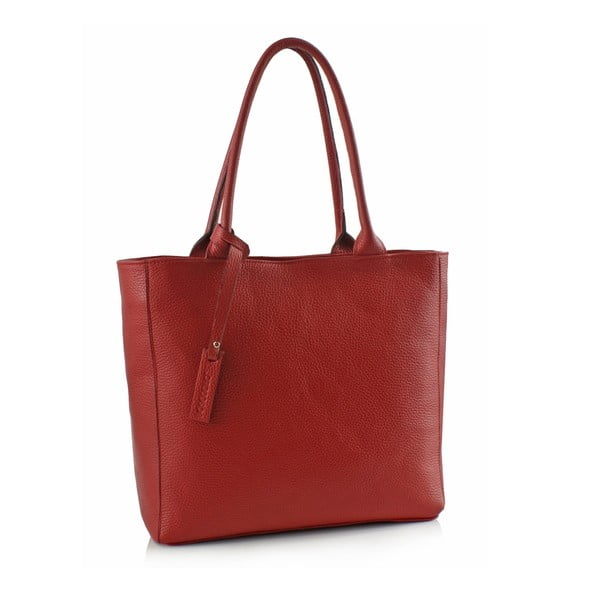 Kožená kabelka Boscollo Red 3322