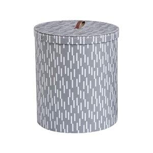 Sivý úložný box OYOY Cute, ⌀ 28 cm