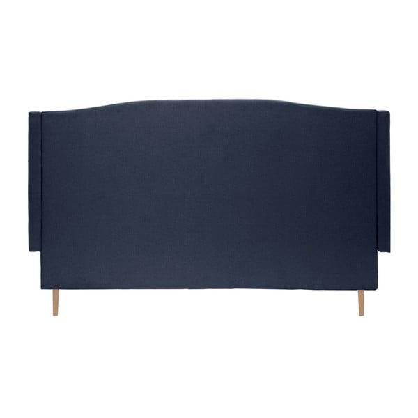 Tmavomodrá posteľ so svetlými nohami VIVONITA Windsor, 160 x 200 cm