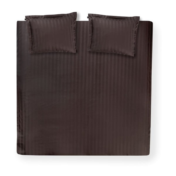 Čierne obliečky Linea Basalt, 140x200 cm