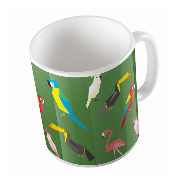 Keramický hrnček Exotic Birds, 330 ml
