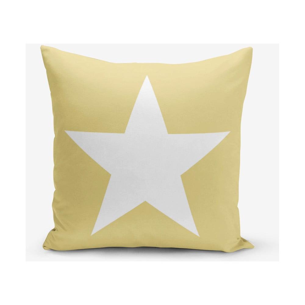 Žltá obliečka na vankúš Minimalist Cushion Covers Stars, 45 × 45 cm
