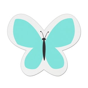 Modrý detský vankúšik s prímesou bavlny Apolena Pillow Toy Butterfly, 26 x 30 cm