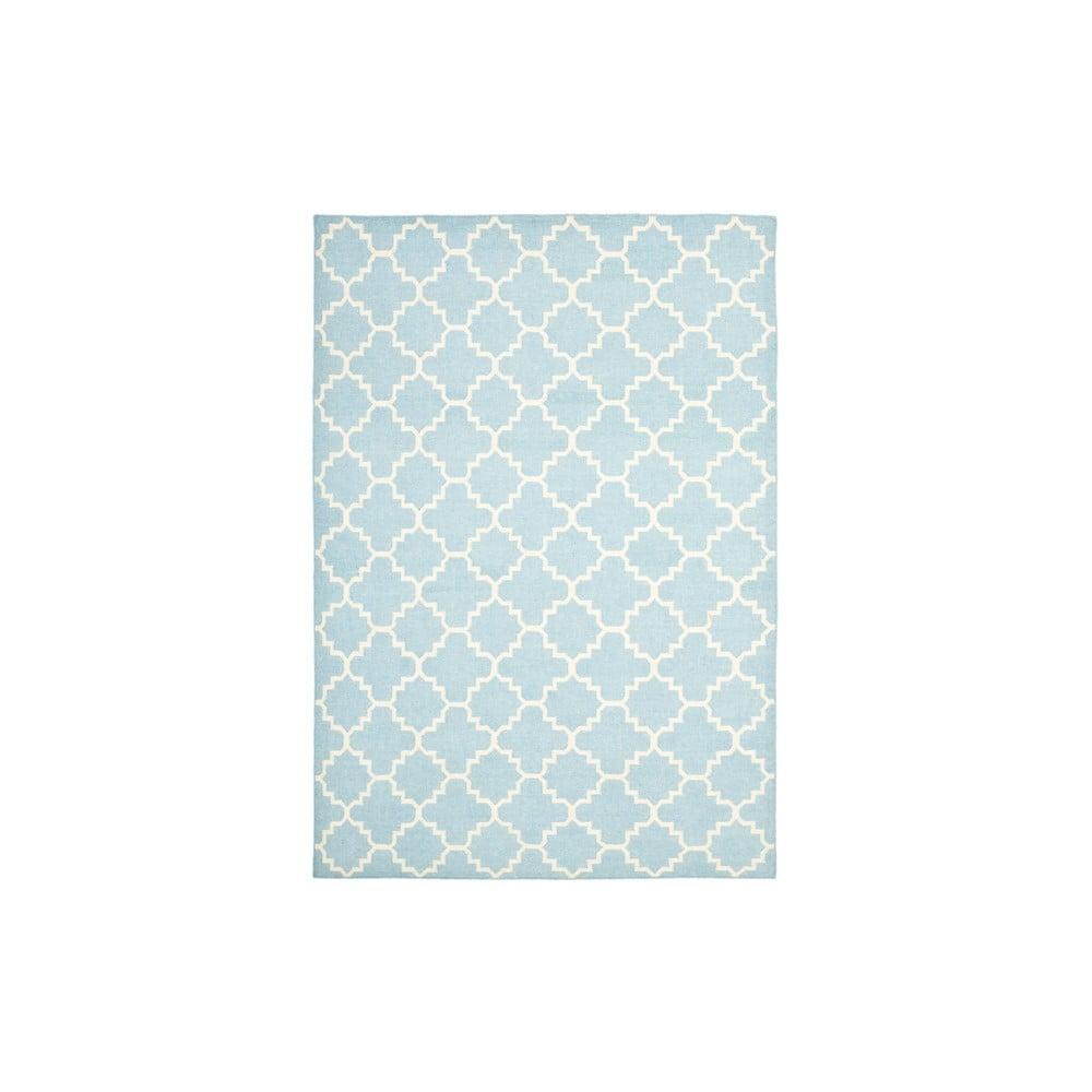 Vlnený koberec Darajen 91x152 cm, svetlo modrý