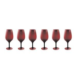 Sada 6 tmavočervených pohárov Villa d'Este Happy Hour, 428 ml