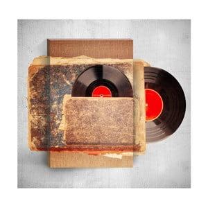 Nástenný 3D obraz Mosticx Old Vinyl, 40×60 cm