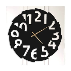 Čierne kovové nástenné hodiny Elmer