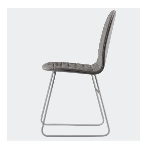 Stolička Mannequin Triangel, sivá