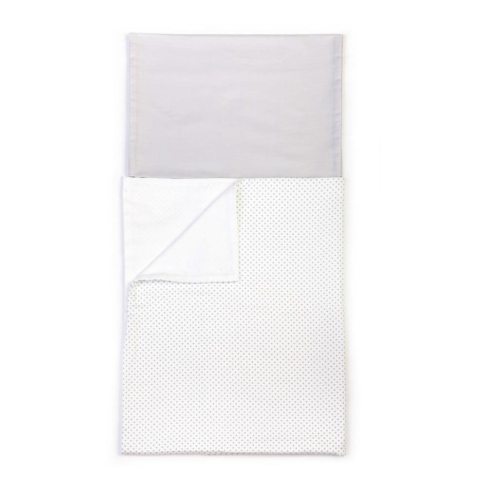 Detské sivé bavlnené obliečky YappyKids Shades, 100 × 135 cm
