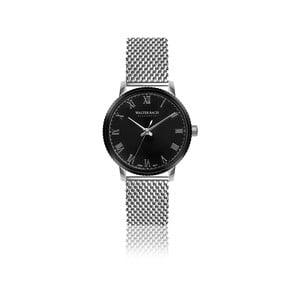Pánske hodinky s remienkom z antikoro ocele v striebornej farbe Walter Bach Helen