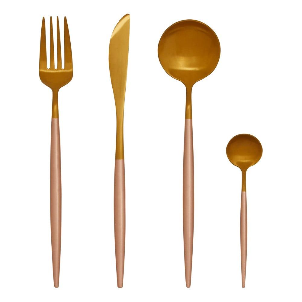 Súprava 16 antikoro príborov v zlatej farbe Premier Housewares Avie