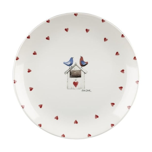 Sada 6 ks tanierov Churchill China Two Lovebirds, 26 cm