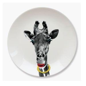 Keramický tanier Just Mustard Giraffe