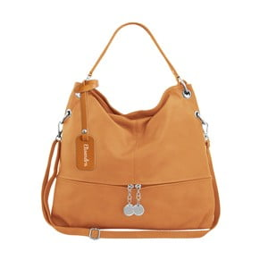 Horčicovohnedá kožená kabelka Maison Bag Evelyne