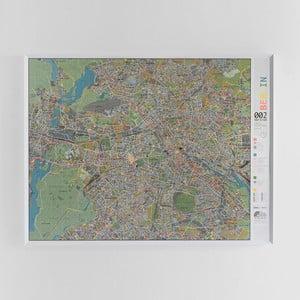Magnetická mapa Berlína Street map, 130×100cm