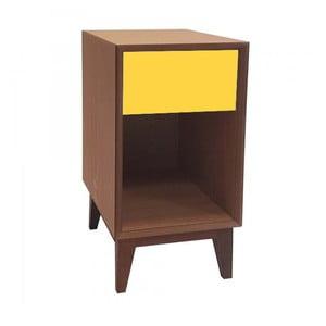 Veľký nočný stolík so žltou zásuvkou Ragaba PIX