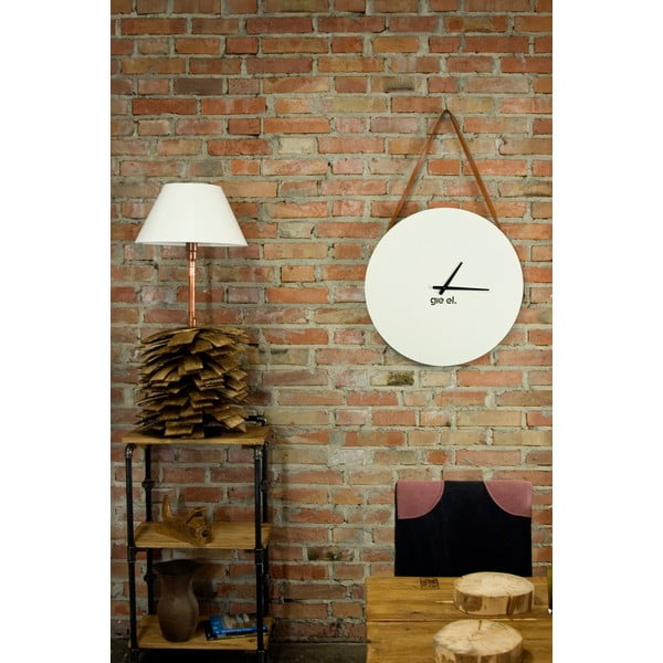 Nástenné hodiny Clock 60 cm, biele