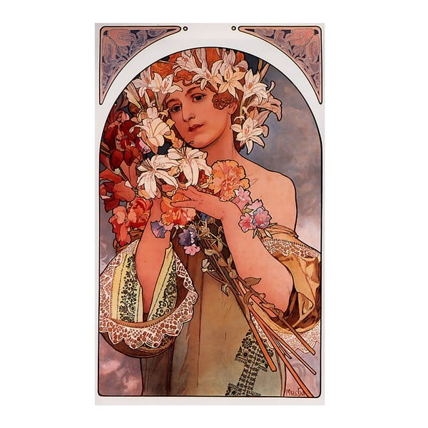 Obraz Alfons Mucha Flower, 70x40 cm