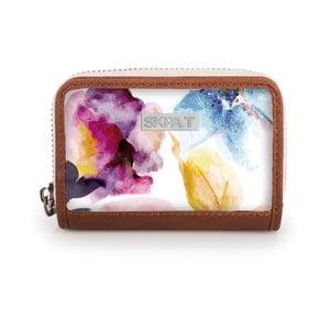 Biela peňaženka s farebnými kvetmi na mince Skpa-T White, 11x7cm