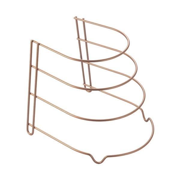 Stojan na panvice v medenej farbe Metaltex