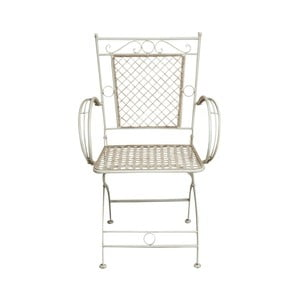 Biela železná stolička Crido Consulting Pierre