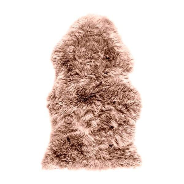 Hnedoružová ovčia kožušina Royal Dream Sheep, 120 × 60 cm