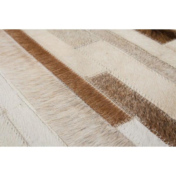 Kožený koberec Eclipse Cream, 80x150 cm