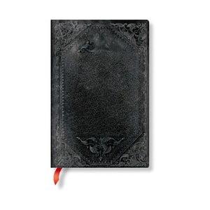 Linajkový zápisník s mäkkou väzbou Paperblanks Midnight Rebel, 9,5 x 14 cm