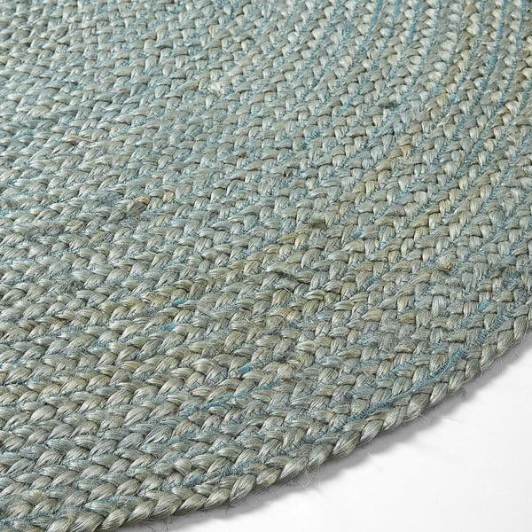 Modrý jutový koberec Dip, Ø 100 cm