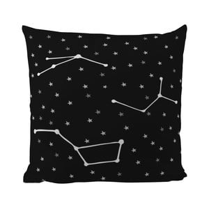 Vankúš Black Shake Star Constellations, 50x50 cm