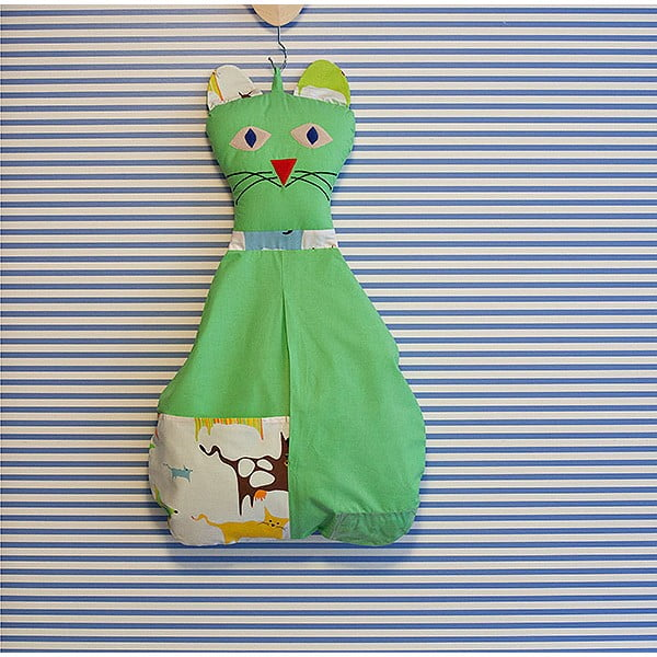 Závesná taška Mačička, hráškovo zelená