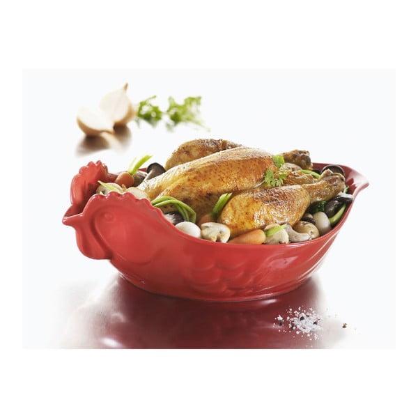 Zapekacia miska v tvare sliepky Happy Cuisine 2 l, červená