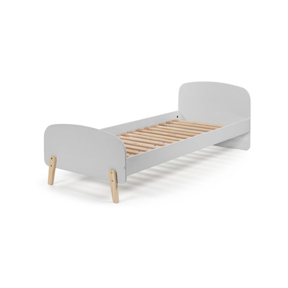 Sivý rám detskej postele z masívneho borovicového dreva Vipack Kiddy, 200 × 90 cm