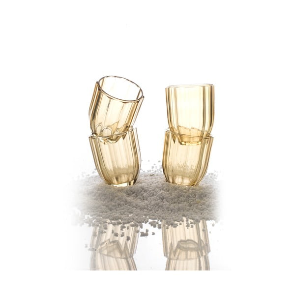 Sada 4 pohárov Soleil Amber