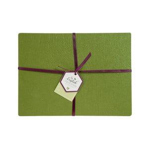 Sada 4 zelených prestieranie z lepenej kože David Mason Noble