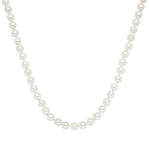 Perlový náhrdelník Muschel, biele perly 8 mm, dĺžka 60 cm