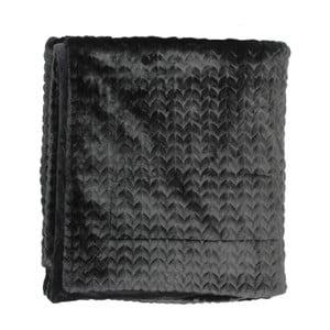 Čierny pléd Essenza Faya, 150x200cm