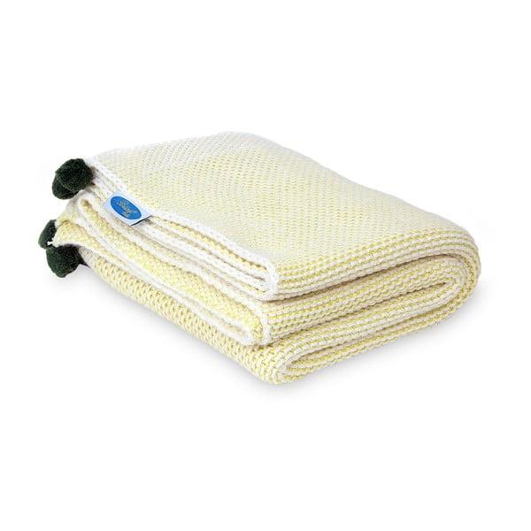 Detská deka Baby Yellow, 90x90 cm