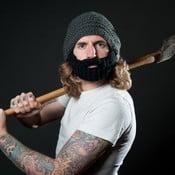 Tmavosivá čiapka s odopínateľnou bradou Beardo Original