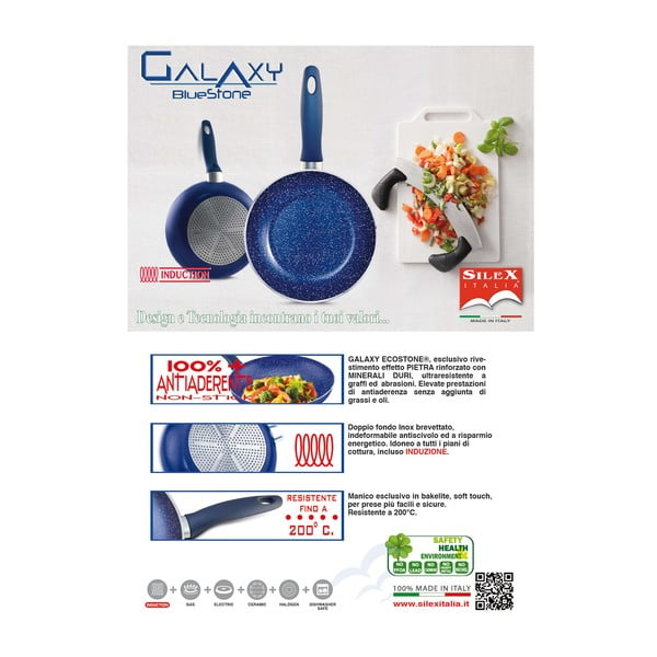 Panvica Silex Italia Galaxy High Frypan, ⌀ 28 cm